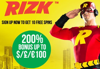 Rizk Live Casino Welcome Bonus Package